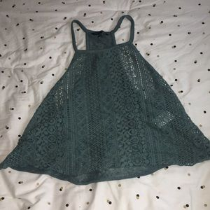 American Eagle Green Turquoise Lace Top